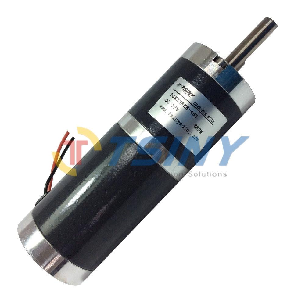 Free shipping high torque 38mm dia 12v 6rpm dc planet for Dc planetary gear motor