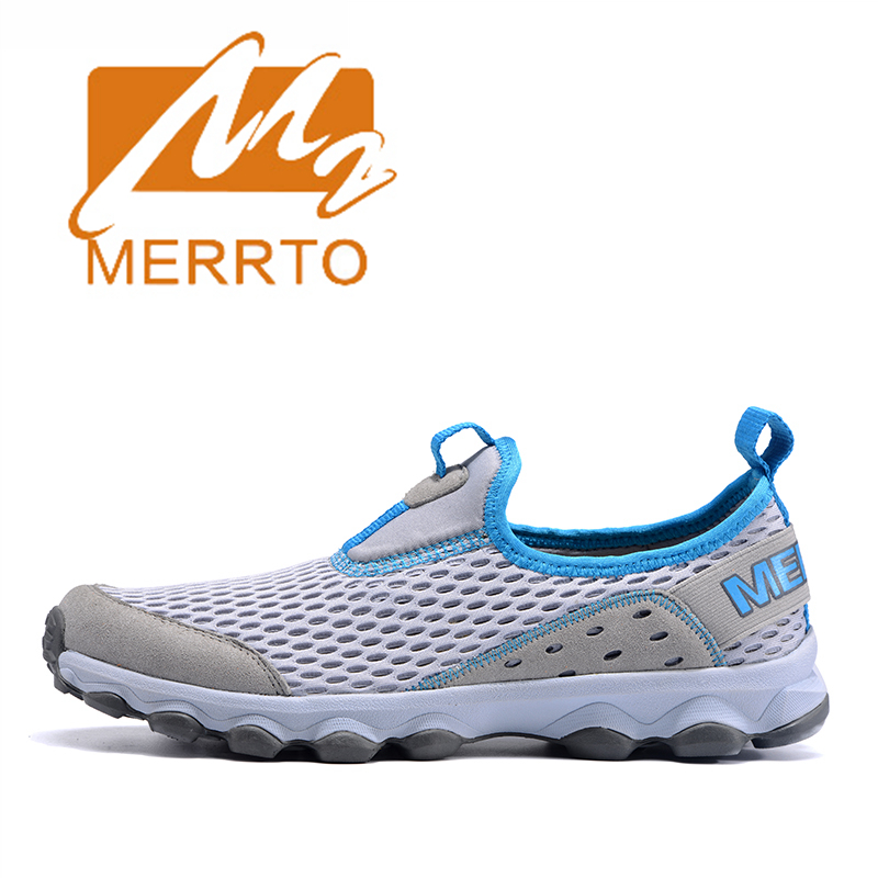 ФОТО 2017 Merrto Lovers Walking Shoes Outdoor Slip On Shoes Mesh For Lovers Free Shipping MT18603/MT18602