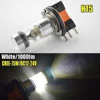 2x H15 LED Bulbs High Power 6000K White C REE 75W 100W 1000LM For Daytime Running