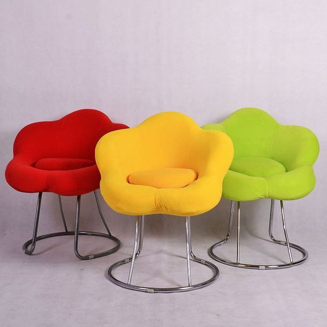 Superbe Special Stylish Simplicity Fabric Sofa Parlor Chairs Computer Desk Chair  Comfortable Fabric Flowers Makeup Beauty