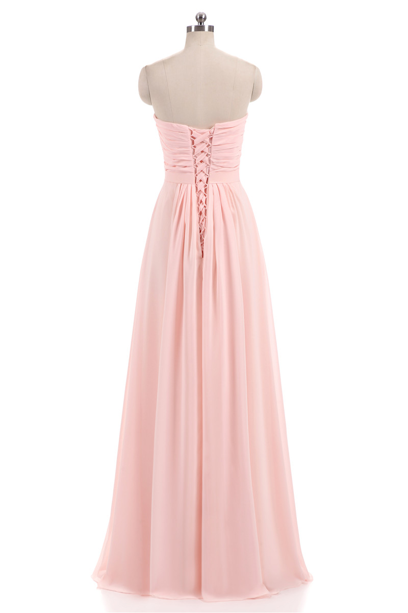 Nové růžové Lilac šifónové družičky šaty 2018 Plus velikost - Šaty pro svatební hostiny - Fotografie 4