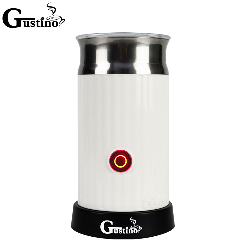 Gustino Automatic Electric Milk Frother with Stainless Steel Container for Cappuccino Coffee Machine Maker Hot/Cool electric milk frother capuccino coffee maker autoamtic milk frother maker coffee maker foaming maker machine factory store