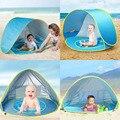 Детская портативная Пляжная палатка  летняя  защищающая от УФ лучей  для детей  пляжный бассейн  игровой домик  водонепроницаемые всплывающ...