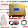 GSM 3 Г Повторитель Двухдиапазонный GSM 900 МГц 2100 МГц W-CDMA UMTS Repetidor 3 Г Антенна Усилитель Сигнала 2 Г 3 Г Сотовый Телефон Booster наборы