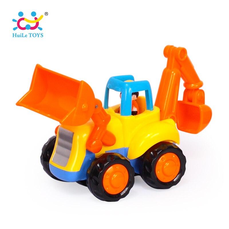 1 PZ HUILE GIOCATTOLI 326A New Baby Cars Camion Giocattolo Per Bambini Giocattoli per I Bambini Piccolo Tirare Indietro Bulldozer Camion Giocattoli Ragazzi Brinquedos Juguetes