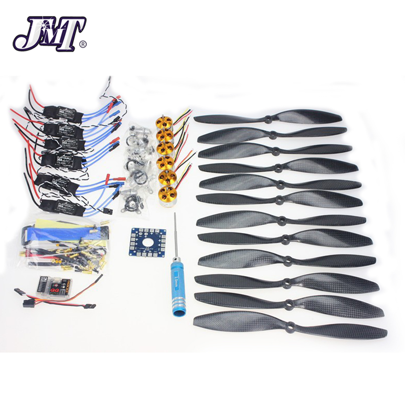 JMT 6 Axle Foldable Rack RC Quadcopter Kit with QQ Super Flight Control+1000KV Brushless Motor + 10x4.7 Propeller + 30A ESC rc helicopter kit 4 axle apm2 8 flight control board gps 1000kv brushless motor 10x4 7 propeller 30a esc foldable rack f02015 h