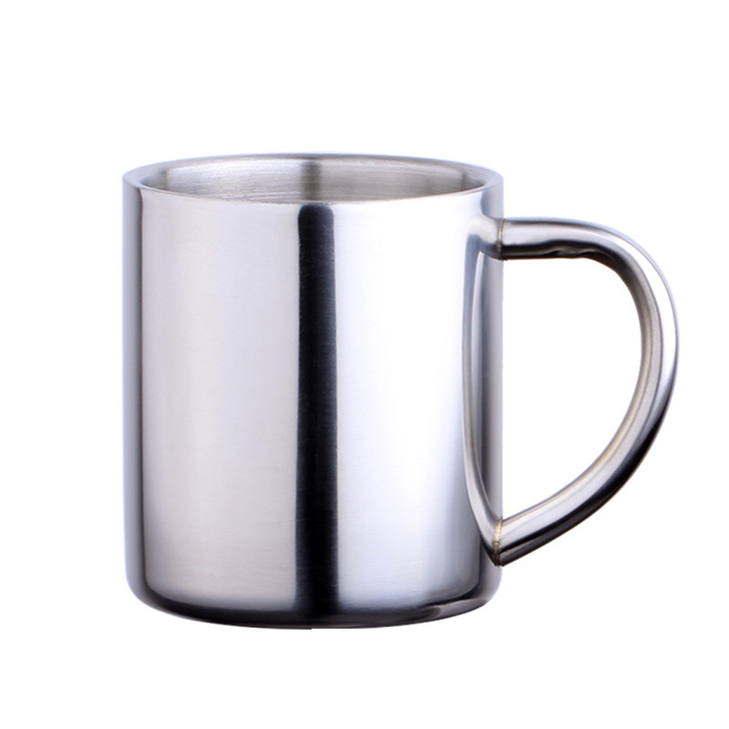Drinkware Creative Double Wall Insulation mug Children milk Drinkware 250cc Food grade 304 Stainless Steel Coffee Mug Fast Post