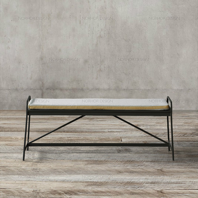 Nordic Expression / Choate Series / Modern Scandinavian Furniture /  Observer Iron Benches / Bed End