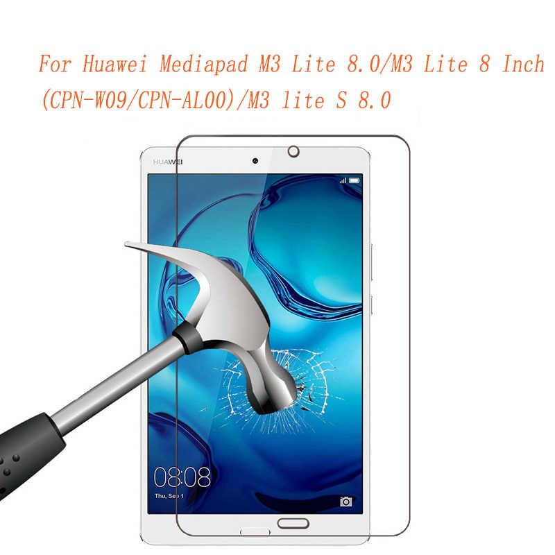 С уровнем твердости 9 H твердость закаленного стекла Стекло для huawei MediaPad M3 Lite 8,0 защитный экран для планшета защитная пленка для M3 lite S 8,0 Стекло гвардии