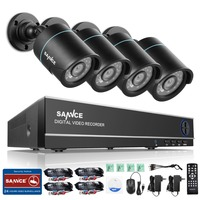 SANNCE 8CH HD 960H DVR 1080P NVR CCTV Home Security Camera System 4PCS IR Outdoor 900TVL