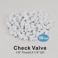 100 PACK of Male Elbow Check Valve 1/8