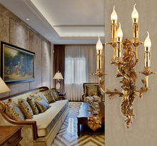 Vintage Wall Lamp Classical Candle Luxurious Light Hotel Villa Bedroom Bracket Sconces Luminaria