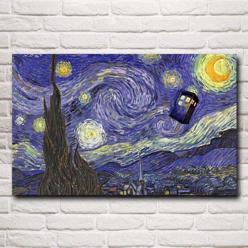 Doctor Who Television Series Umění Silk Printing Plakát ložnice dekorativní obrázek 12x19 15x24 19x30 22x35 palců Doprava zdarma