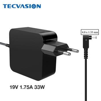 19V 1 75A 4 0*1 35mm 33W dla ASUS Vivobook S200 S220 X200T X202E X553M Q200E X201E zasilacz ładowarka AC Adapter ADP-33AW W tanie i dobre opinie TVSPower 19 v ADP-33AW A US EU e