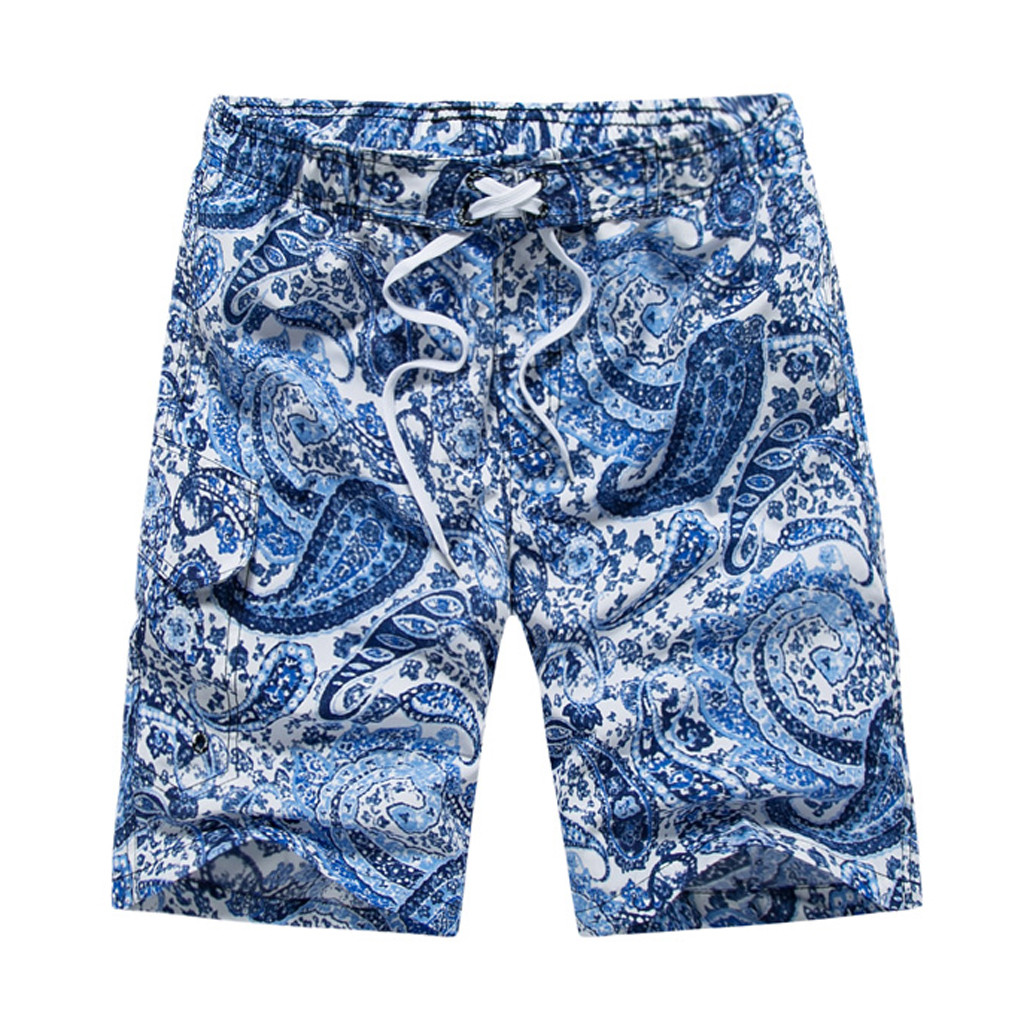 CHAMSGEND   Shorts   Ethnic Style Trunks   Board   Pants Casual Quick Drying Men's Swimwear Surfing Elastic Waist Beach   Shorts   36.JAN.25