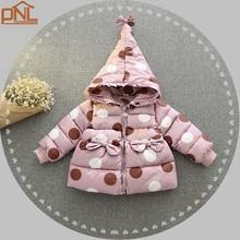 Детские девушки Зимняя Мода куртки Девушки Верхняя Одежда детская Пальто