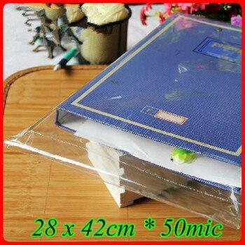 300pcs/lot 28 x 42cm*50mic Self Adhensive Seal Plastic Packaging Bag,Clear OPP Poly Bag,Transparent OPP T- shirt Packaging