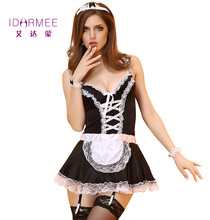 IDARMEE S9067 Women Sexy Nite French Maid Costumes Halloween Maid costumes for Women Sexy Lingerie Plus Size