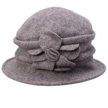 Women Beanies Ladies Winter Wool Cap Cloche Crochet Bucket Hat Solid Church Hat Warm Winter Wool Hat Female Skullies Gorro