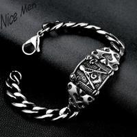 Men cool vintage bangels H029 Fashion 316L stainless steel bracelet for man 1