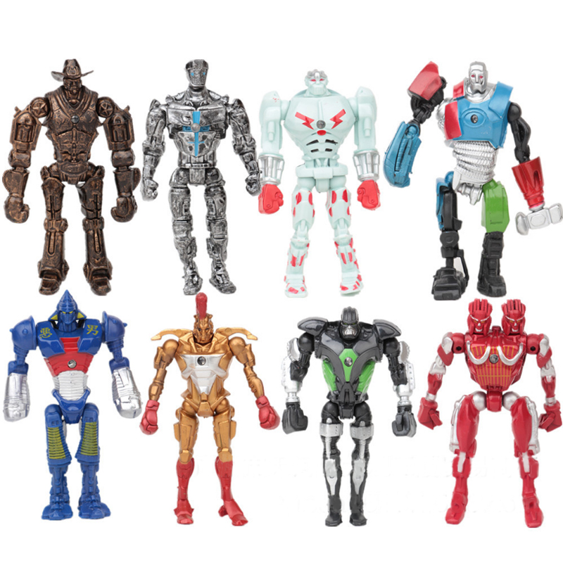 8pcs/set New 2017 Super Hero Movie Action Cool Figure Toys Real Steel Zeus Atom Midas Boys Gift Figures Toys Christmas Gifts New 12pcs set children kids toys gift mini figures toys little pet animal cat dog lps action figures