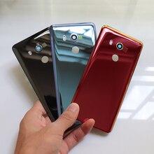 Carcasa real para HTC U11 EYEs carcasa trasera para batería para cristal de puerta trasera funda carcasa para U11 batería de ojos + reemplazo de lente de cámara