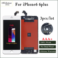 Mobymax AAA 3pcs Lcd Display For Iphone 6 6p No Dead Pixel Assembly Replacement With Original