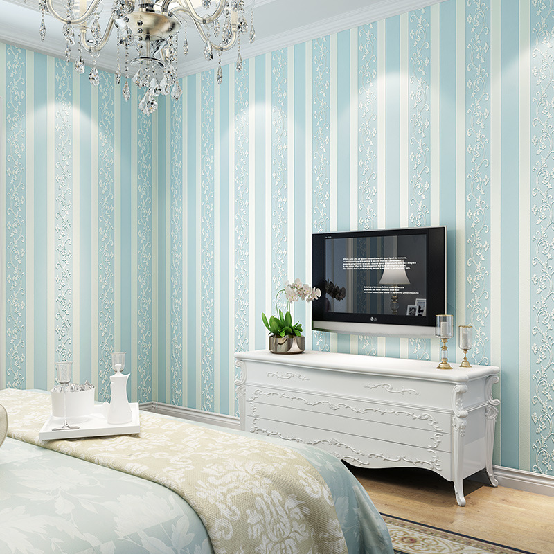 bedroom simple background living waterproof tv non colomac woven stripe european roll 3d wall wallpapers