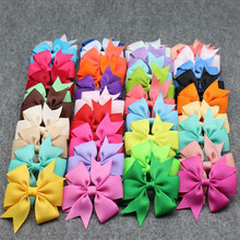 Hot 1PC Sale Candy Colorful Chiffon Bow Hair clip for kids girls hair accessories