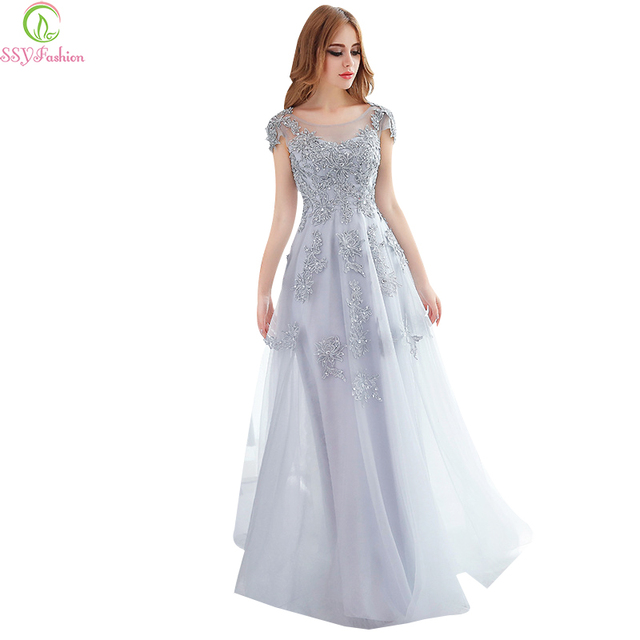 Ssyfashion Long Sleeve Wedding Dresses The Bride Elegant: Aliexpress.com : Buy SSYFashion Long Evening Dresses 2017