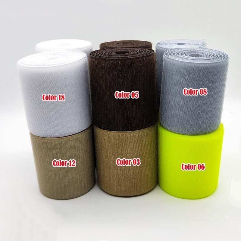 10cm width/3meter length Khaki red blue coffee magic nylon hook and loop fastene