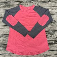 wholesale children sweety raglan shirts baby elbow patch clothing girls shirts