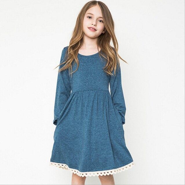 603e21502 Vestidos casuales para adolescentes niñas trajes de manga larga otoño 13  vestidos de ropa de los