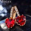 MDEAN 18KGold Plated Hoop Earrings for women CZ diamond AAA Zircon Engagement fashion jewelry women earrings Bijoux MSE014