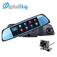 Digitalboy 6 86 Car Mirror Dvr Android GPS Navigation Rearview Mirror Video Recorder Dual Lens Parking