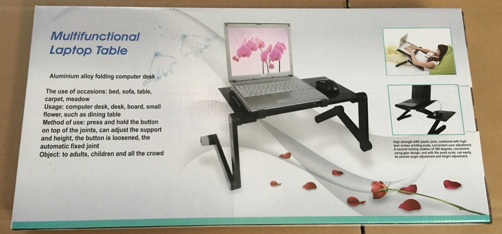 Купить с кэшбэком Adjustable Portable folding table for Laptop Desk Computer mesa notebook Stand Tray For Sofa Bed