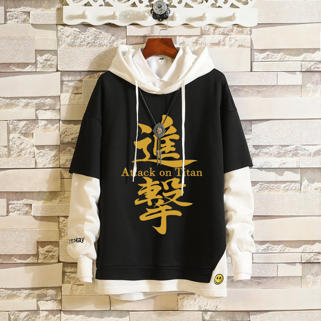 ATTACK ON TITAN THEMED PULLOVER HOODIE (4 VARIAN)