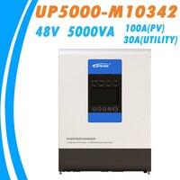 EPever 5000VA чистая синусоида гибридный инвертор MPPT 100A панели солнечные зарядное устройство и 30A AC все в одном для 48 В батарея 220VAC
