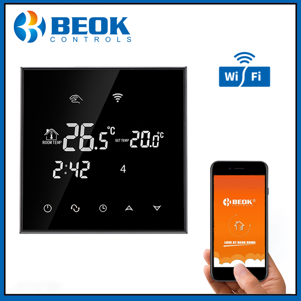 Beok TGT70WIFI WP Touch Screen Thermostat 3A Water Floor Heating Digital Thermoregulator