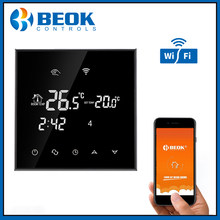 Beok TGT70WIFI-WP Wifi Touch Screen Thermostaat 3A Water Vloerverwarming Digitale Thermoregulator Zwart Thermostaat(China)