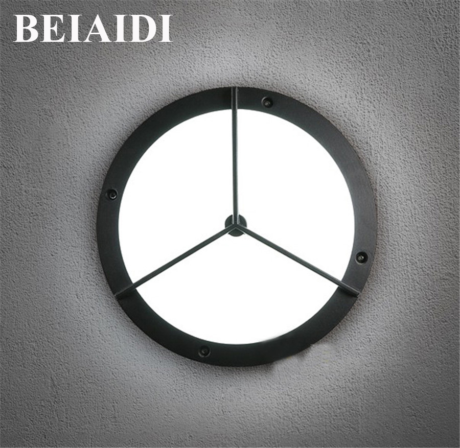 BEIAIDI 24W 2 in 1 Waterproof LED Wall Lamp Aisle Balcony Ceiling Wall Light Outdoor Villa Courtyard Garden Corridor Porch Light waterproof sensor outdoor led wall lamp countryard villa garden aisle corridor lighting pc wall light free shipping