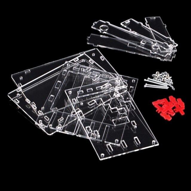 """Новый прозрачный DSO138 2,4 """"TFT карманный размер цифровой осциллограф комплект diy запчасти ручной акрил собрать чехол в виде ракушки для DSO138"""