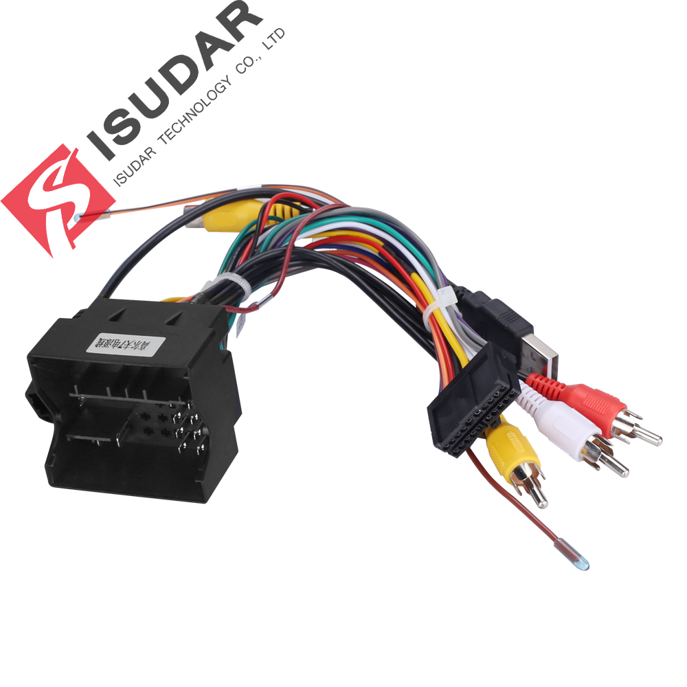 Isudar Special ISO Cable For ISUDAR/VW/Volkswagen/MQB/Golf 7 Platform Car DVD  Just Fit For ISUDAR Android