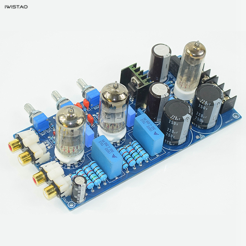 IWISTAO Tube Tone Adjustment Finished Board 2x6N1 Bass Treble Volume Control DIY gzlozone diy kit njw1194 remote volume conrol kit treble