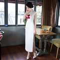 Shanghai Story Chinese Cheongsams long floral qipao Faux Silk chinese traditional dresses oriental style dresses 2 Style