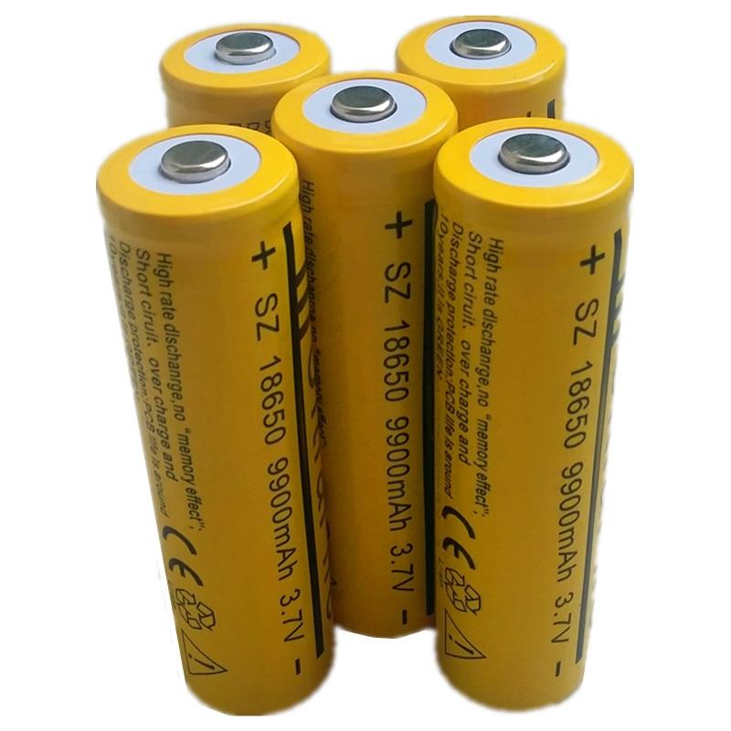 2pcs lot 3 7v 18650 battery 9900mah li ion rechargeable battery for flashlight 18650. Black Bedroom Furniture Sets. Home Design Ideas