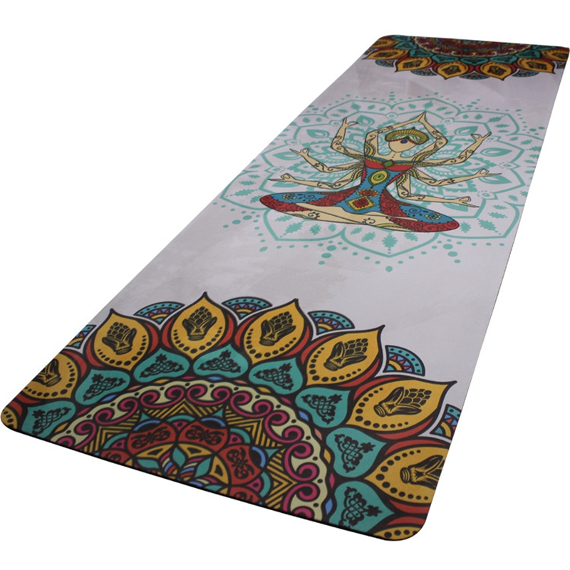 Thicken 5mm natural rubber suede cloth printing high temperature non slip yoga mat rubber high quality