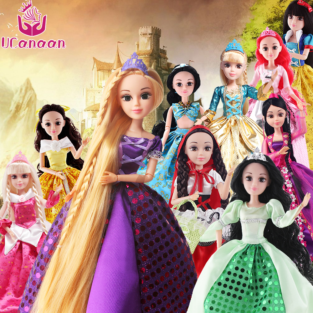UCanaan Abbie Dolls 1/6 Princesses Toys For Girls Prety Cinderella Rapunzel Mermaid Snow White Beauty Princess Gift For Children ...