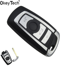 Фотография OkeyTech Car Accessories Replacement Remote Car Key Shell For BMW 1 3 5 6 7 Series X3 X4 Key Fob Case 3 Buttons Blade Key Cover