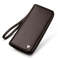 WILLIAMPOLO Men Wallets Wallet Long Purse Card Holder High Quality Genuine Leather Man Clutchs Portefeuille Homme Male Billfold